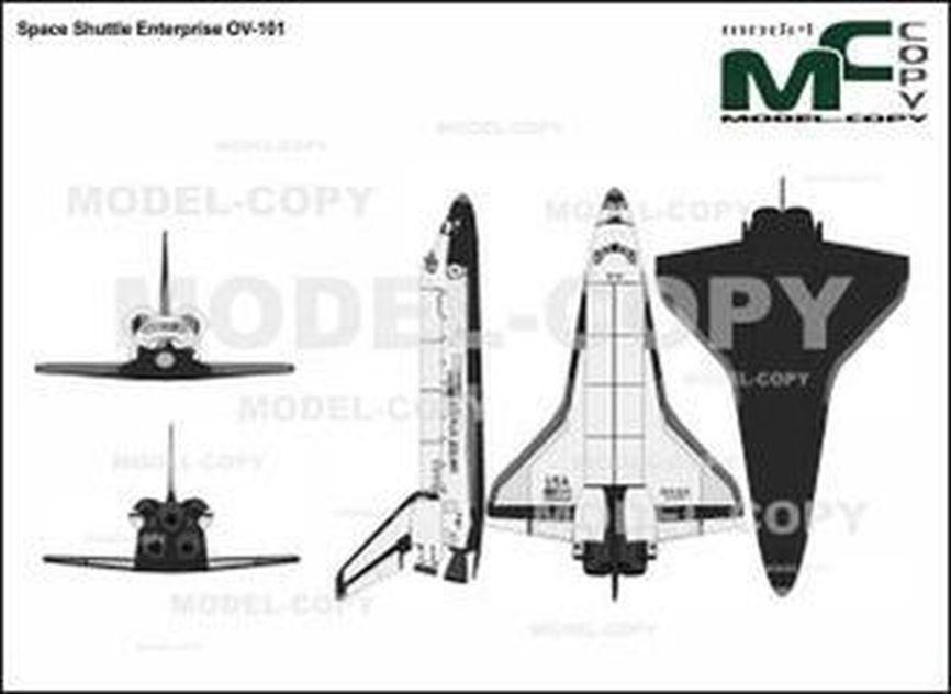 Space Shuttle Enterprise OV-101 - drawing