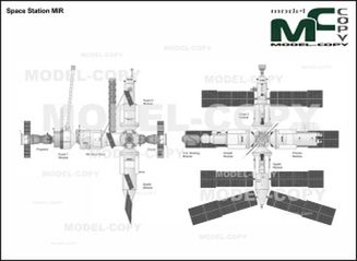 Space Station MIR - drawing