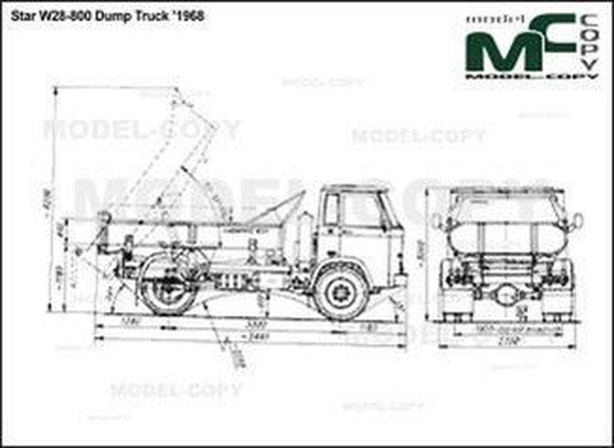 Star W28 800 Dump Truck 1968
