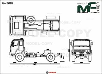 Steyr 12M18 - 2D drawing (blueprints)