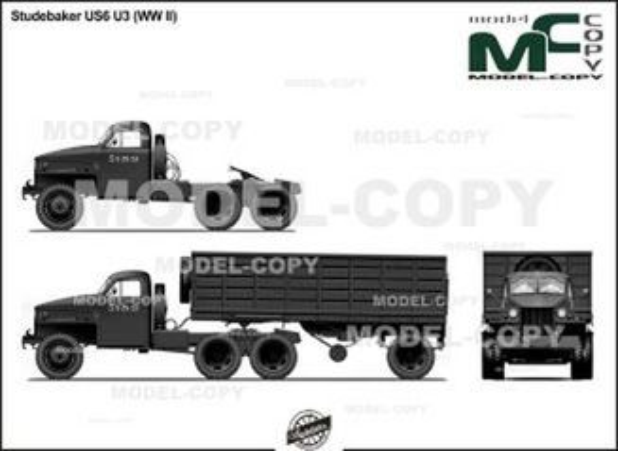 Studebaker US6 U3 (WW II) - 2D drawing (blueprints)