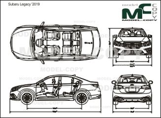Subaru Legacy '2019 - drawing