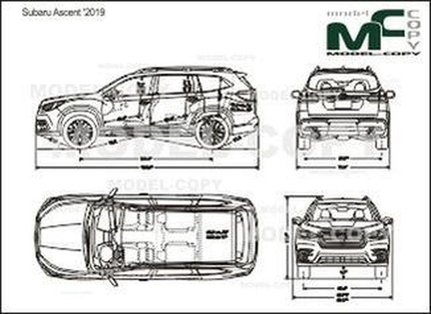 Subaru Ascent '2019 - drawing