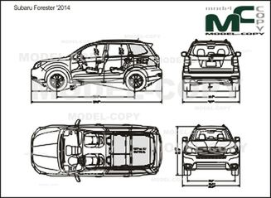 Subaru Forester '2014 - drawing