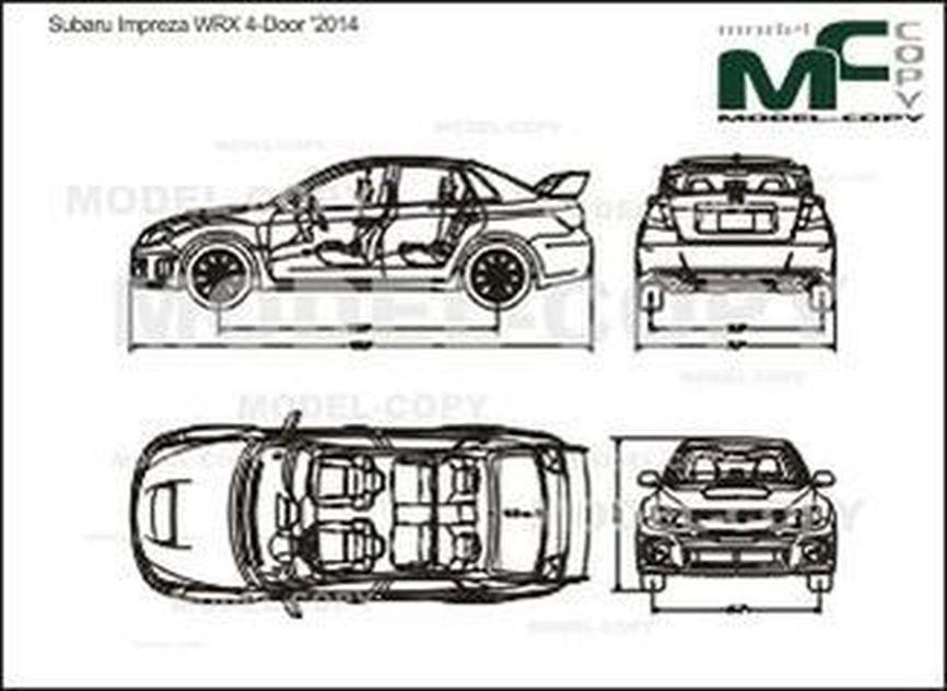Subaru Impreza WRX 4-Door '2014 - drawing