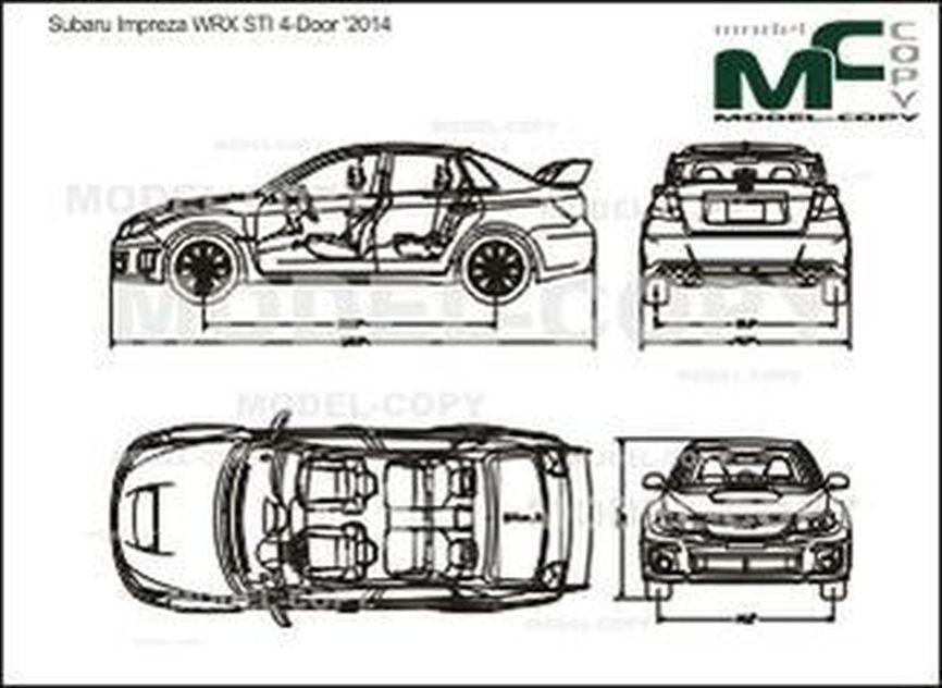 Subaru Impreza WRX STI 4-Door '2014 - drawing