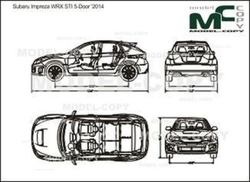 Subaru Impreza WRX STI 5-Door '2014 - drawing