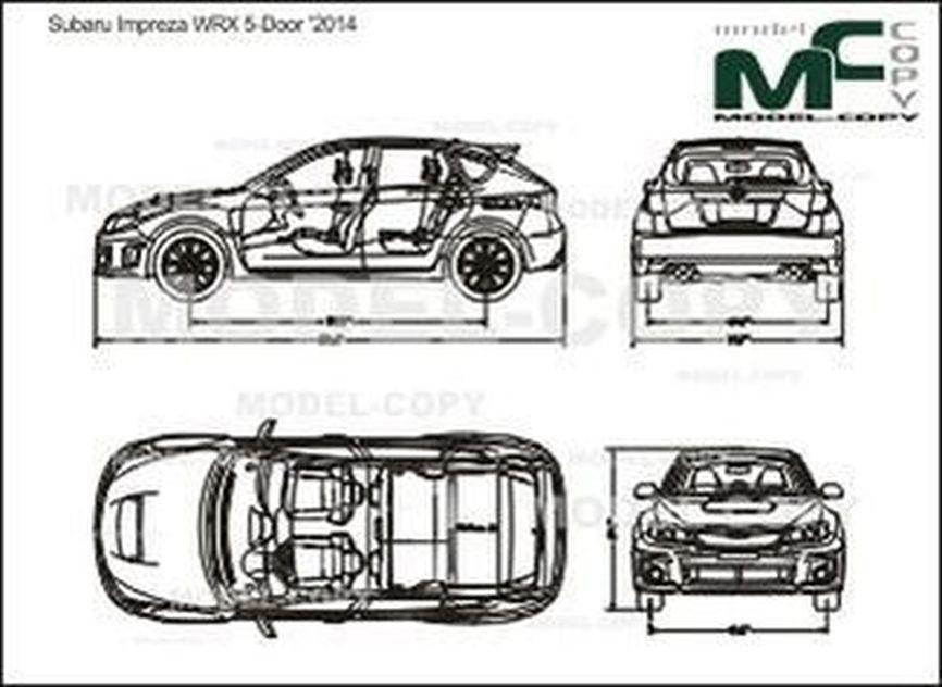 Subaru Impreza WRX 5-Door '2014 - drawing