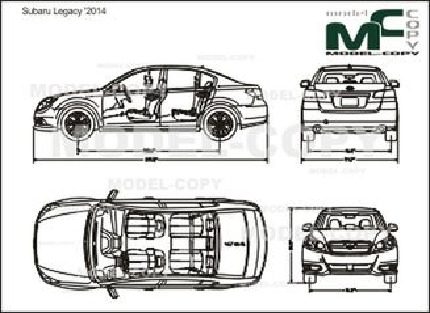 Subaru Legacy '2014 - drawing