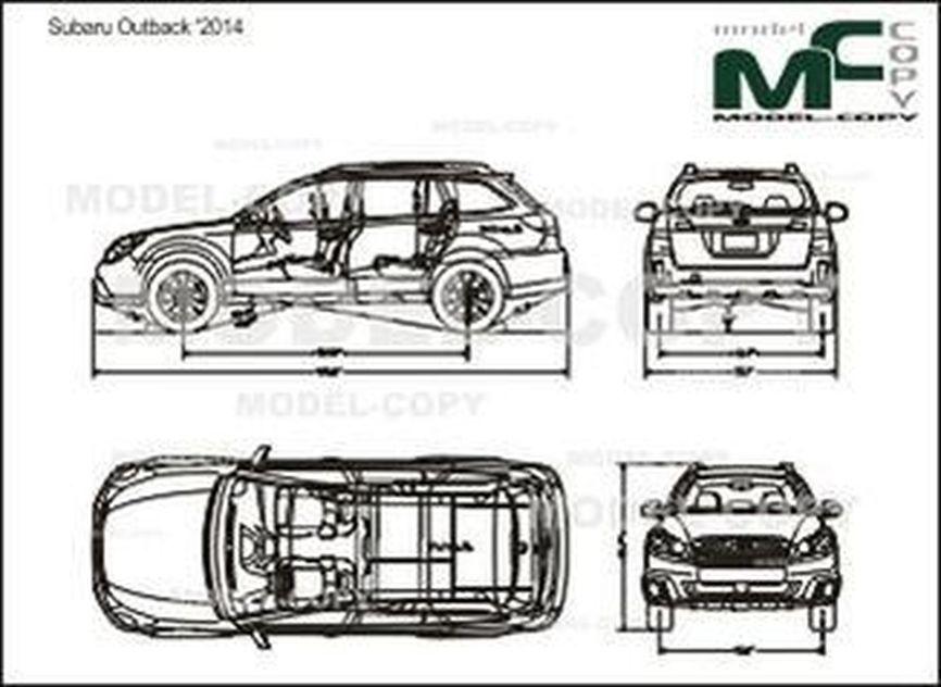 Subaru Outback '2014 - drawing
