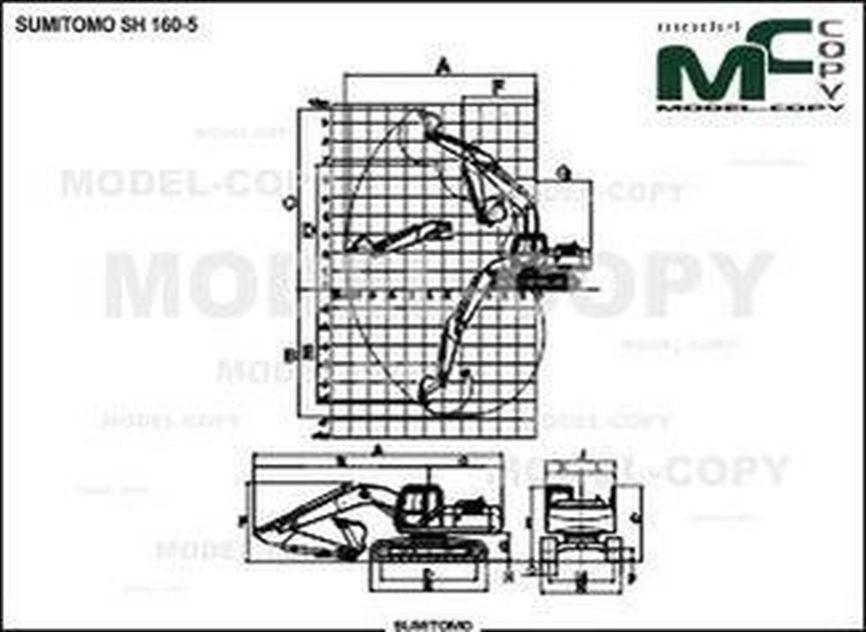 SUMITOMO SH 160-5 - 2D drawing (blueprints)