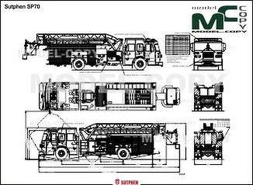 Sutphen SP70 - 2D drawing (blueprints)