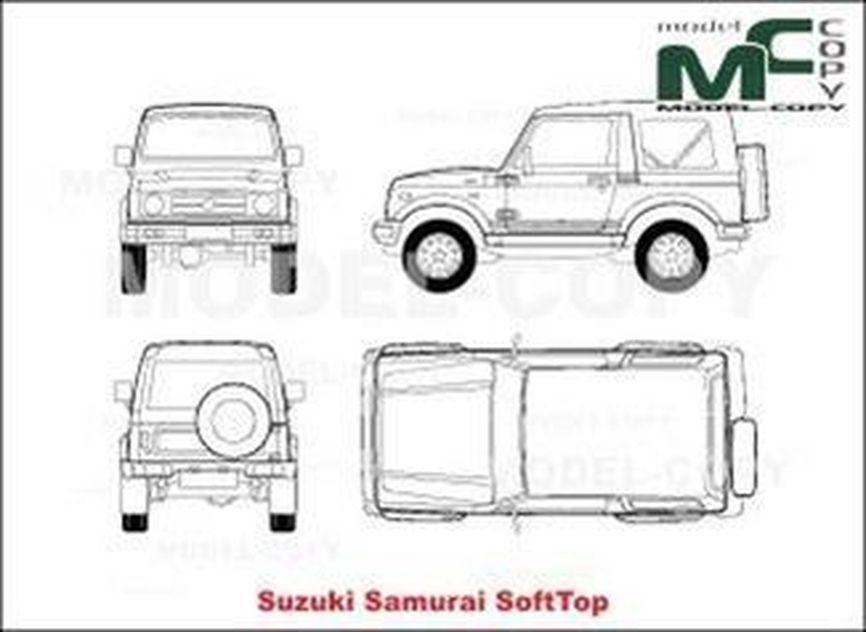 suzuki samurai softtop - drawing - 19981