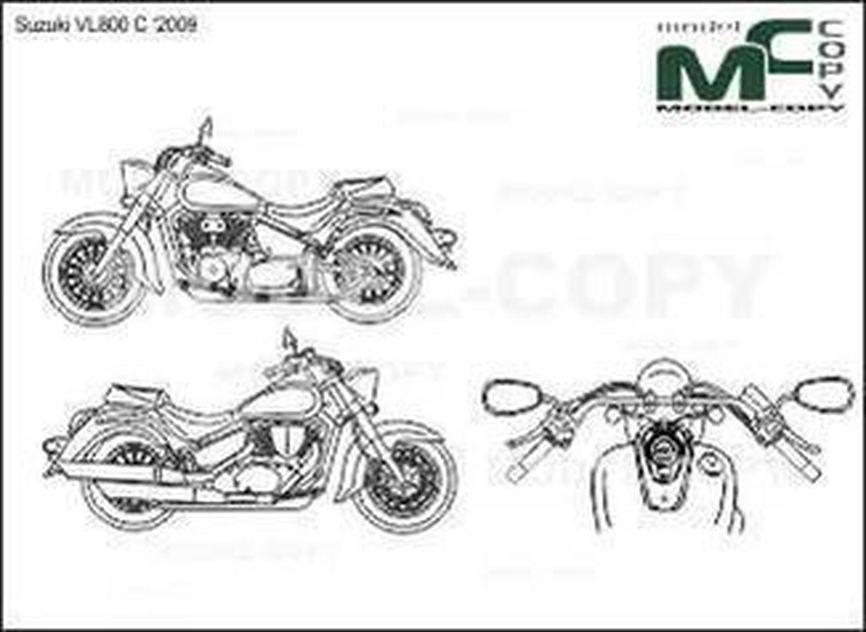 Suzuki VL800 C '2009 - drawing
