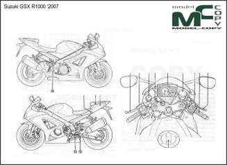 Suzuki GSX R1000 '2007 - drawing