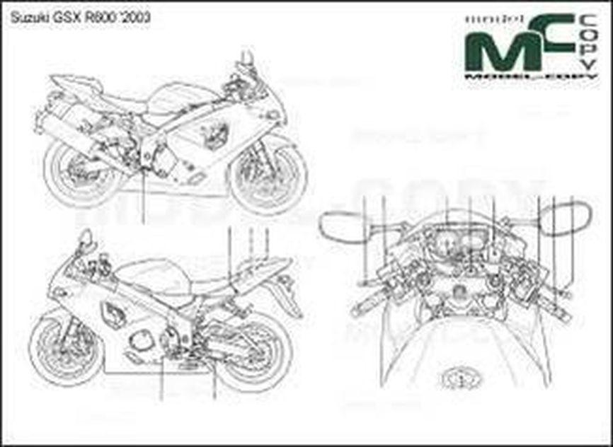 Suzuki GSX R600 '2003 - drawing