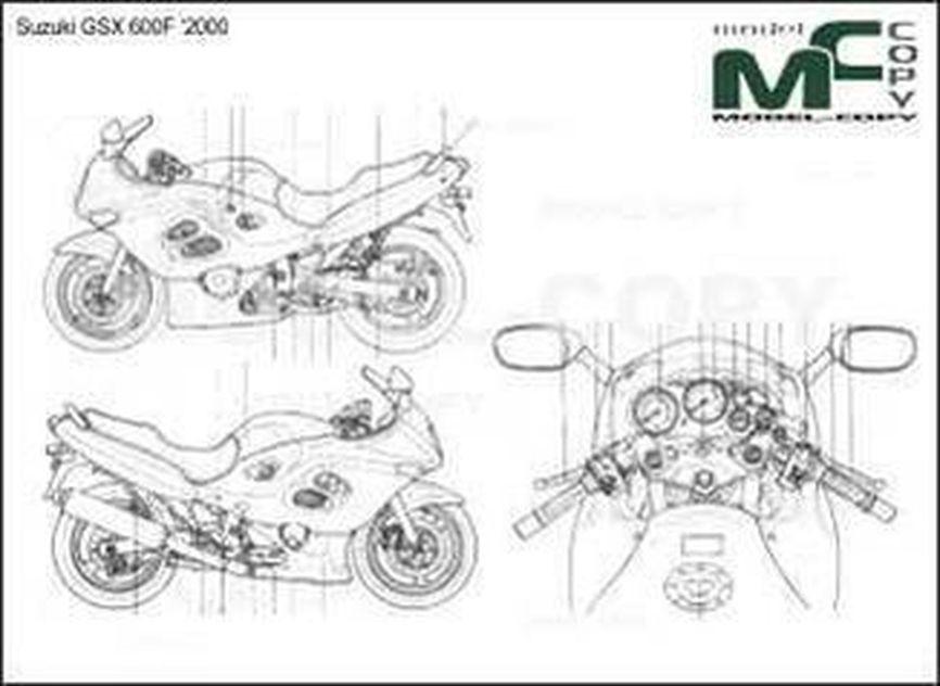 Suzuki GSX 600F '2000 - drawing