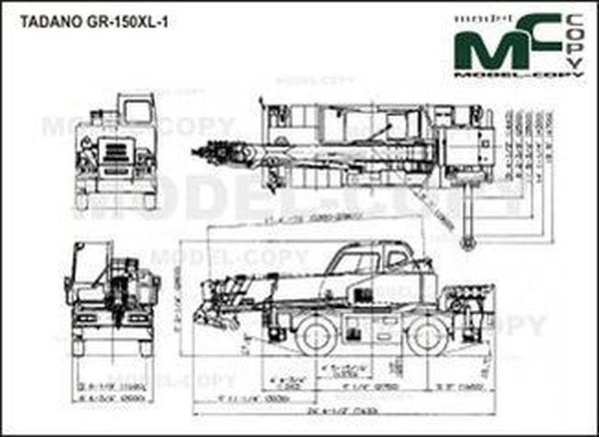 TADANO GR-150XL-1 - drawing