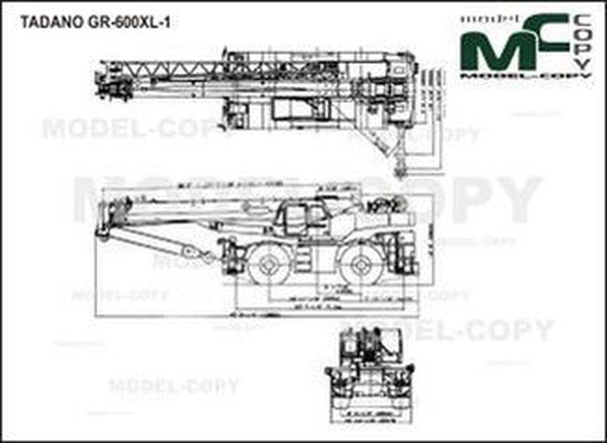 TADANO GR-600XL-1 - drawing