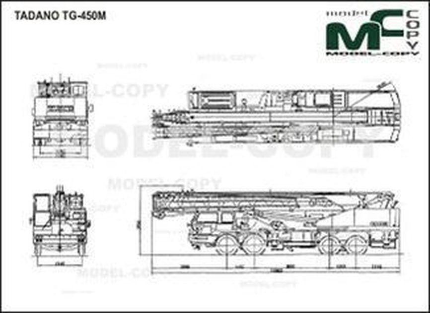 TADANO TG-450M - 2D tegning