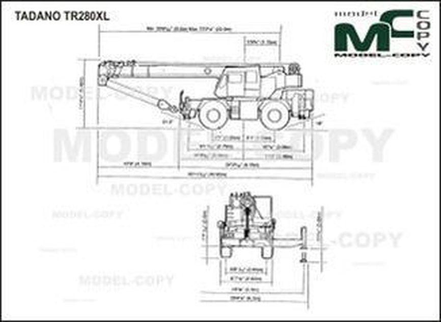 TADANO TR280XL - 2D-ritning
