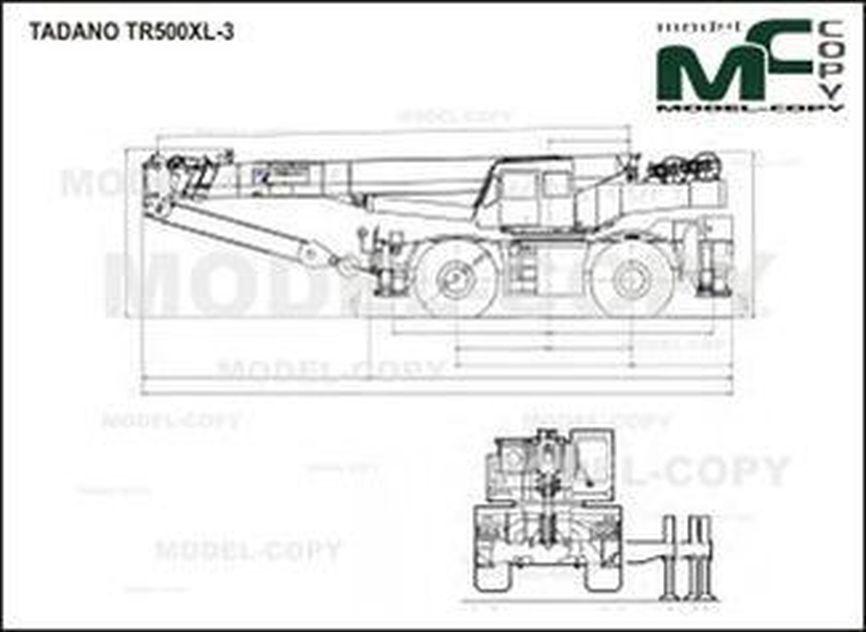 TADANO TR500XL-3 - drawing