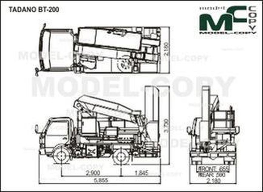 TADANO BT-200 - drawing