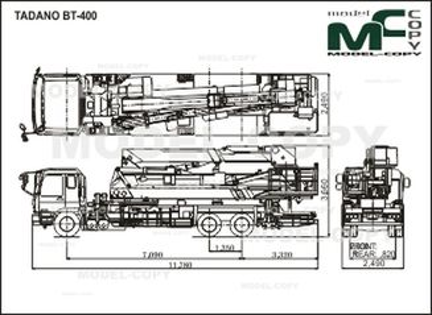 TADANO BT-400 - drawing