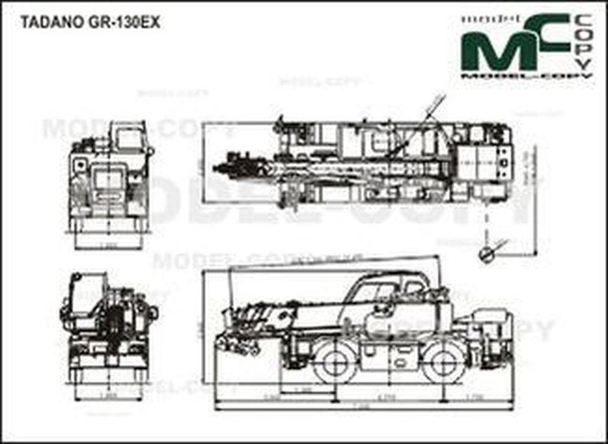 TADANO GR-130EX - tekening