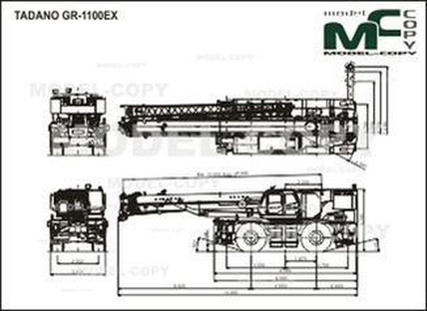 TADANO GR-1100EX - drawing