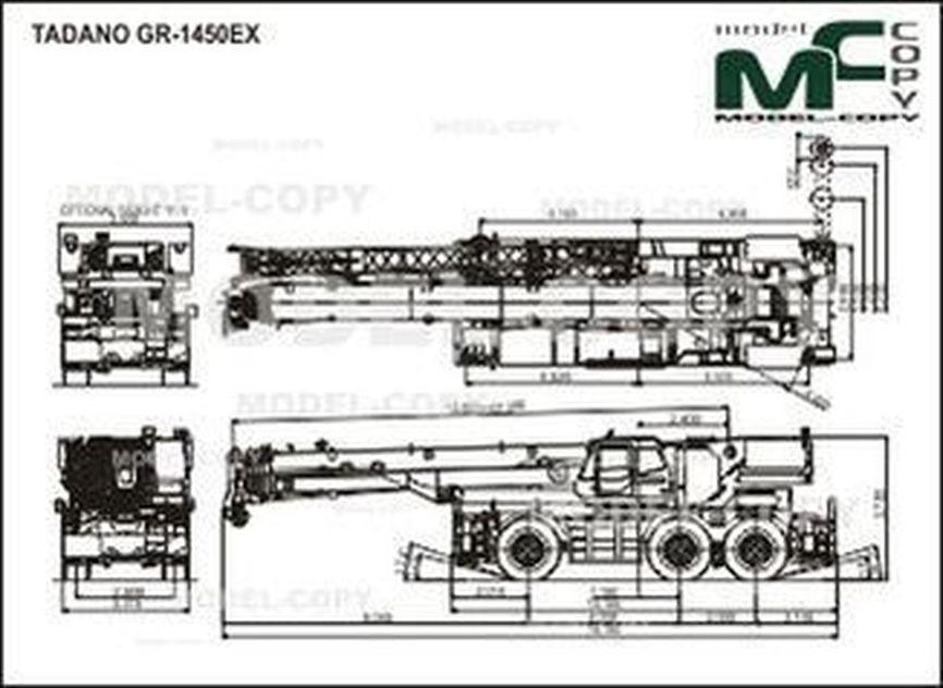 TADANO GR-1450EX - drawing