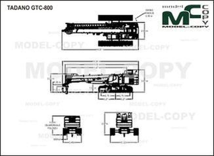 TADANO GTC-800 - drawing