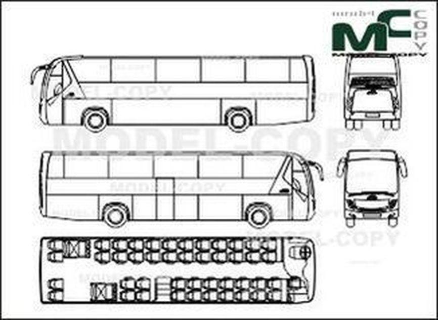 Tata Hispano Divo GT3.5 12.8m - drawing