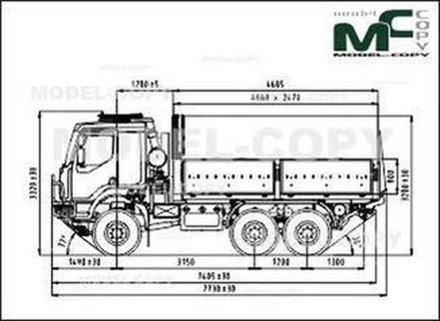 TATRA T 810-1R0R26 13 177 6x6.1R - 2D drawing (blueprints)