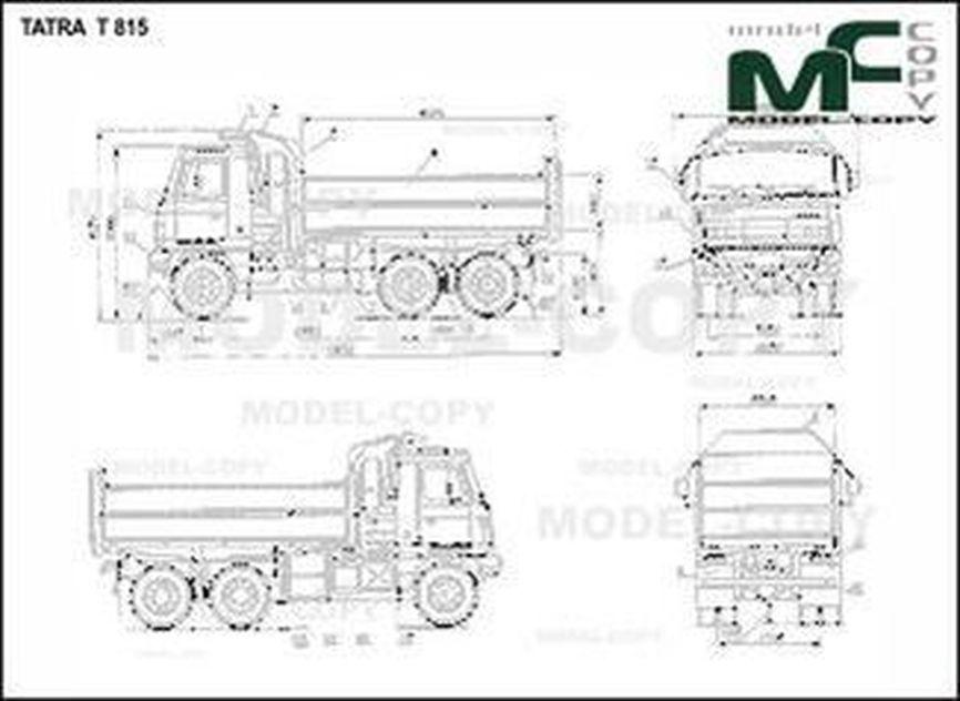 TATRA T 815 - drawing
