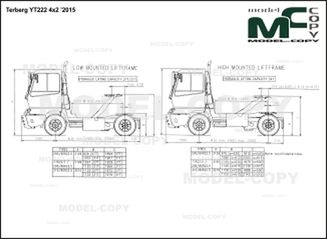 Terberg YT222 4x2 '2015 - 2D drawing (blueprints)