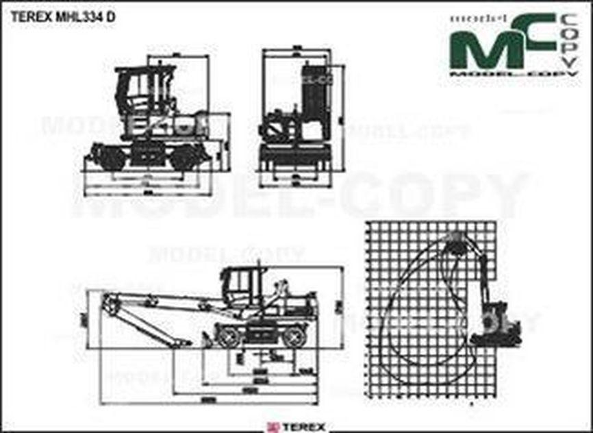 TEREX MHL334 D - 2D drawing (blueprints)