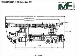 TEREX STINGER 60100 Riding Seat (RS) - drawing