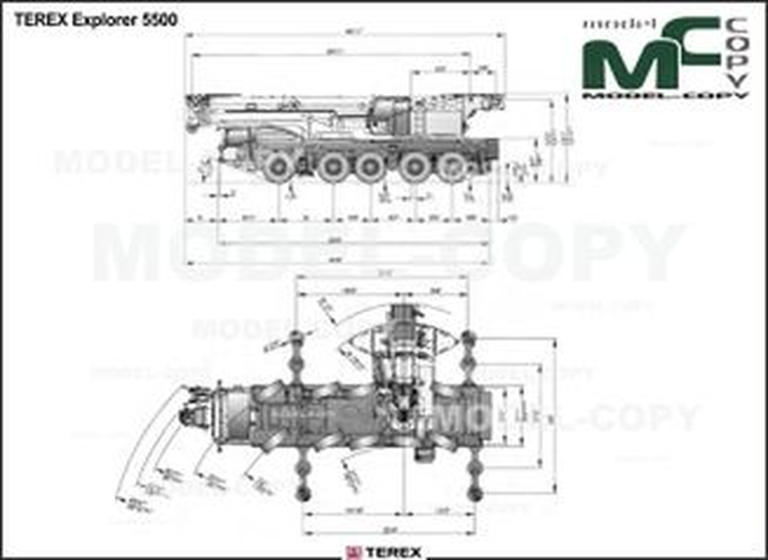 TEREX Explorer 5500 - drawing