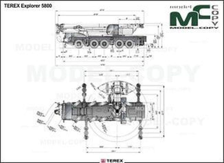 TEREX Explorer 5800 - drawing