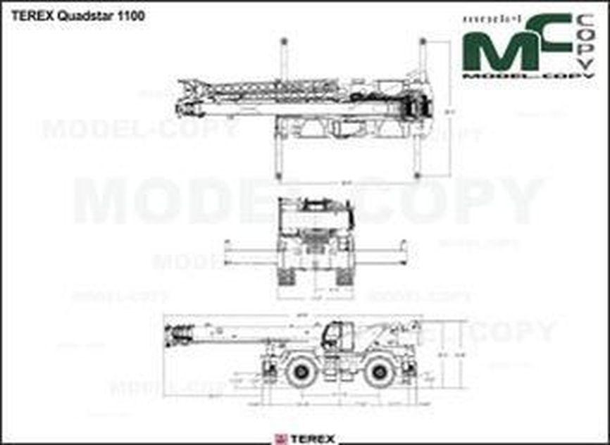 TEREX Quadstar 1100 - drawing