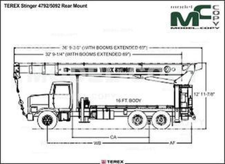 TEREX Stinger 4792/5092 Rear Mount - drawing