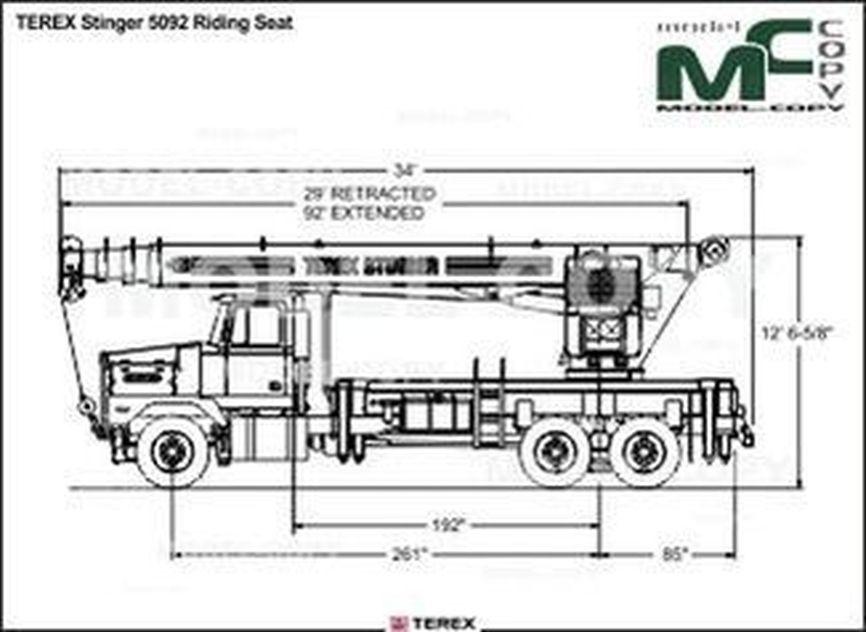 TEREX Stinger 5092 Riding Seat - drawing