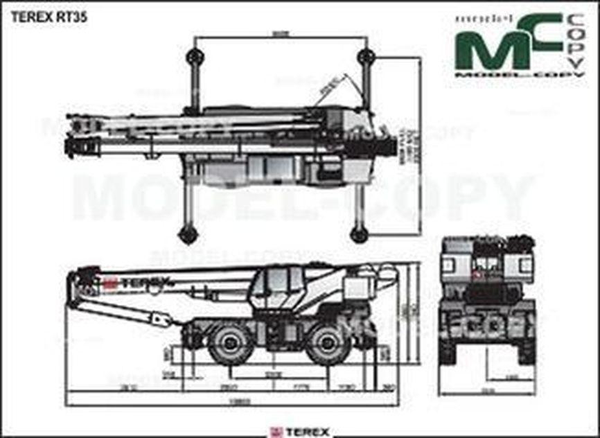 TEREX RT35 - drawing