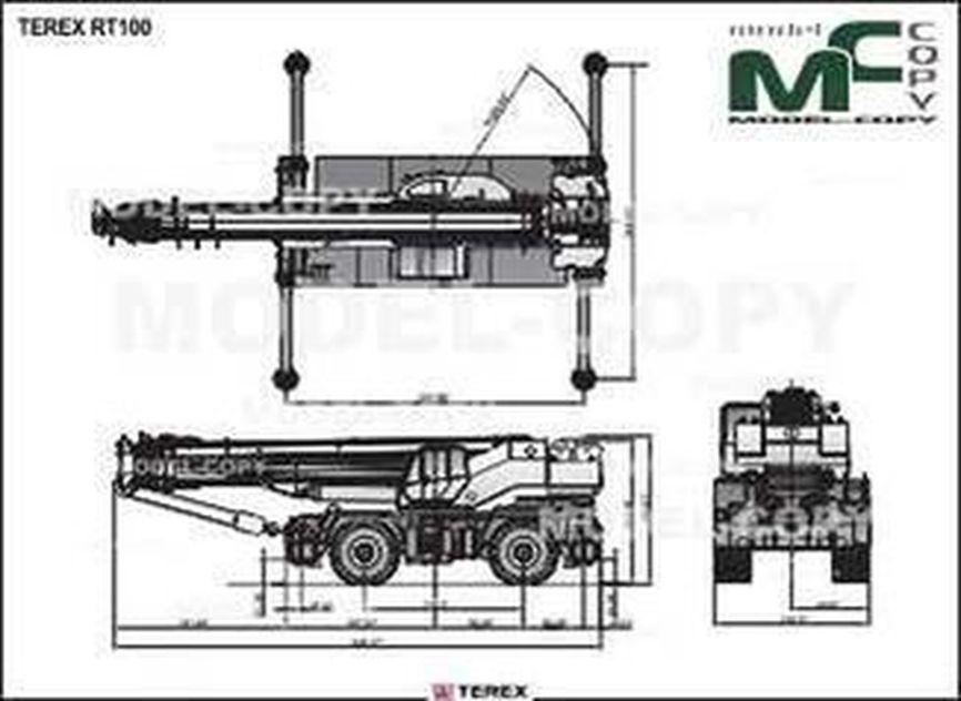TEREX RT100 - drawing