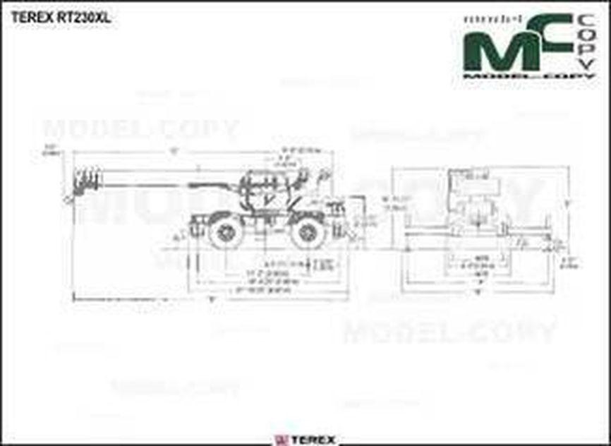 TEREX RT230XL - drawing