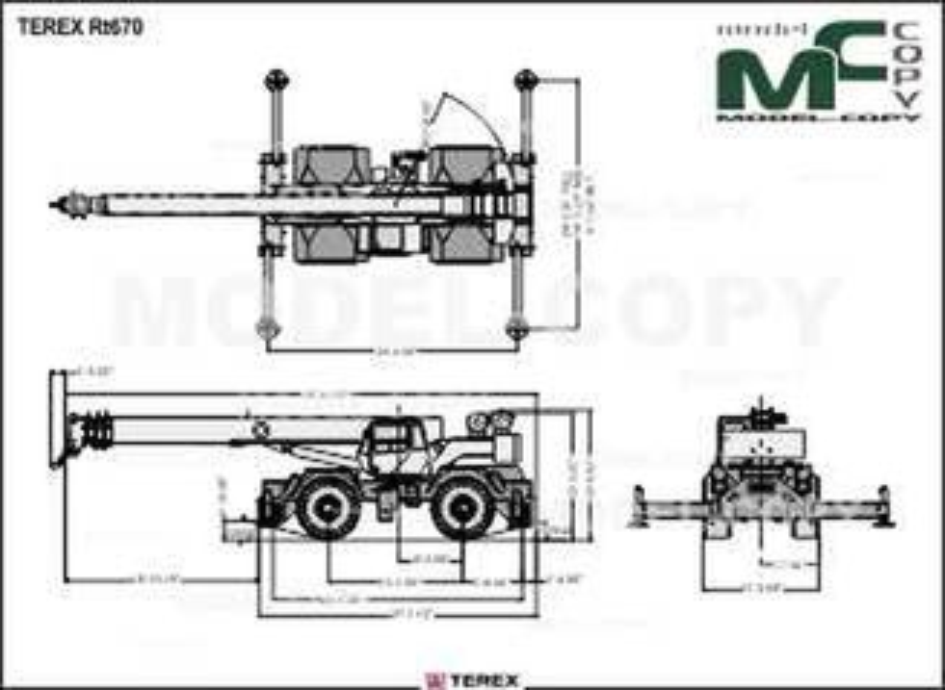 TEREX RT670 - drawing