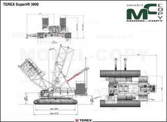 TEREX Superlift 3800 - drawing