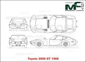Toyota 2000 GT (1968) - drawing