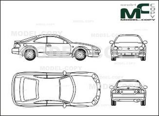 toyota celica - drawing - 28510